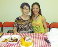 Students celebrate Polly's Birthday at Studio, 2013